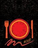 Concepto de diseño drenado mano del menú del restaurante Foto de archivo libre de regalías