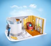 Concepto de diseño interior Fotografía de archivo libre de regalías
