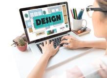 Concepto de diseño interior que hace el tipo sitio del plan fotos de archivo libres de regalías