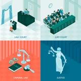 Concepto de diseño isométrico de la ley libre illustration