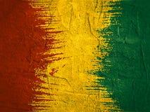 Concepto de diseño de la bandera de Guinea Foto de archivo