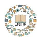 Concepto de diseño de la educación Fotografía de archivo libre de regalías