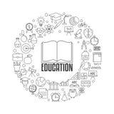 Concepto de diseño de la educación Fotografía de archivo