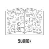 Concepto de diseño de la educación Fotos de archivo