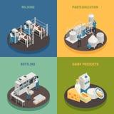 Concepto de diseño de los productos lácteos libre illustration