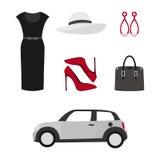 Concepto de diseño plano del vector de la mirada de la moda stock de ilustración