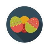 Concepto de diseño plano del vector de los huevos de Pascua Fotografía de archivo libre de regalías