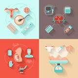 Concepto de diseño del embarazo Fotografía de archivo