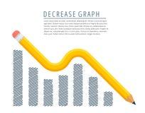 Concepto de disminución del gráfico Imagenes de archivo