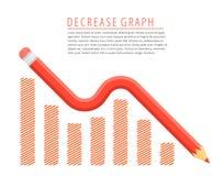 Concepto de disminución del gráfico Imágenes de archivo libres de regalías
