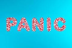Concepto de drogas de pánico-eliminación imagen de archivo