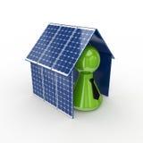 Concepto de energía solar. stock de ilustración