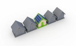Concepto de energía solar. ilustración del vector
