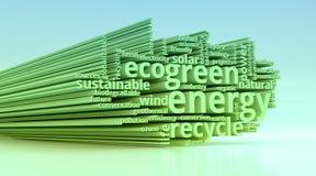 Concepto de energía verde Imagenes de archivo