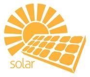 Concepto de energía solar de Sun del panel Fotos de archivo libres de regalías