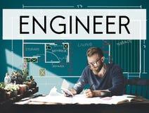 Concepto de Engineering Machine Occupation del ingeniero del motor Imágenes de archivo libres de regalías
