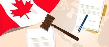 Concepto de ensayo del juicio de la constitución de la ley de Canadá de la legislación legal de la justicia usando el papel y la  stock de ilustración