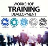 Concepto de enseñanza de la instrucción del desarrollo del entrenamiento del taller fotografía de archivo