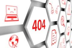 concepto de 404 errores Fotografía de archivo