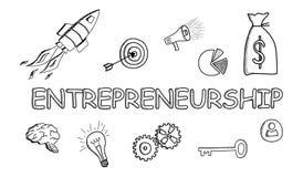 Concepto de espíritu emprendedor ilustración del vector