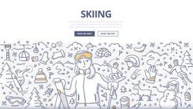 Concepto de esquí del garabato libre illustration