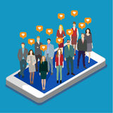 Concepto de establecimiento de una red del social del negocio Fotografía de archivo libre de regalías