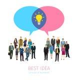 Concepto de establecimiento de una red del social del negocio Imagen de archivo libre de regalías