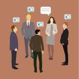 Concepto de establecimiento de una red del social del negocio Imágenes de archivo libres de regalías