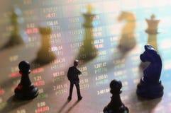 Concepto de estrategia del mercado de acción Imagen de archivo libre de regalías