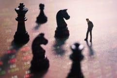 Concepto de estrategia del mercado de acción Foto de archivo libre de regalías