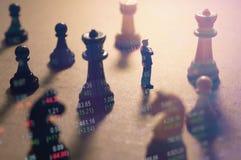 Concepto de estrategia del mercado de acción Fotografía de archivo