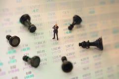 Concepto de estrategia del mercado de acción Fotografía de archivo libre de regalías