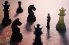 Concepto de estrategia del mercado de acción Imágenes de archivo libres de regalías