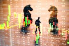 Concepto de estrategia del mercado de acción Imagen de archivo