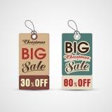 Concepto de etiqueta de la venta para la celebración de la Navidad Imagen de archivo libre de regalías