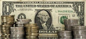 Concepto de euro y de dólar Fotografía de archivo libre de regalías