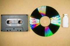 Concepto de evolución de la música Imagen de archivo libre de regalías