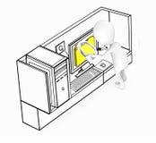concepto de examen de los ficheros del individuo blanco 3d ilustración del vector