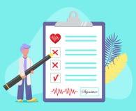 Concepto de examen médico stock de ilustración