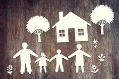 Concepto de familia amistosa feliz Foto de archivo