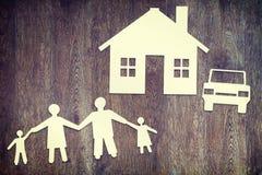 Concepto de familia feliz Fotos de archivo libres de regalías
