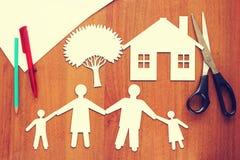 Concepto de familia feliz Imagen de archivo
