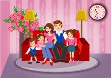 Concepto de familia feliz Imagen de archivo libre de regalías