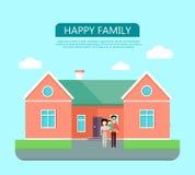 Concepto de familia feliz Foto de archivo