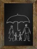 Concepto de familia feliz en seguridad Fotografía de archivo libre de regalías