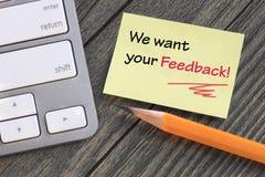 Concepto de feedback Fotografía de archivo libre de regalías