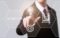 Concepto de financiamiento de lanzamiento de la tecnología del negocio de Internet del espíritu emprendedor del capital de riesgo foto de archivo libre de regalías