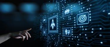 Concepto de financiamiento de lanzamiento de la tecnología del negocio de Internet del espíritu emprendedor del capital de riesgo imágenes de archivo libres de regalías