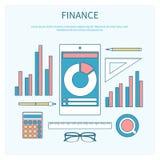 Concepto de finanzas corporativas Fotos de archivo libres de regalías
