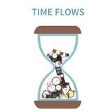 Concepto de flujos del tiempo libre illustration